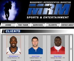 Marty Magid's MRM Sports & Entertainment represented defensive end Elvis Dumervil until a recent highly publicized snafu.